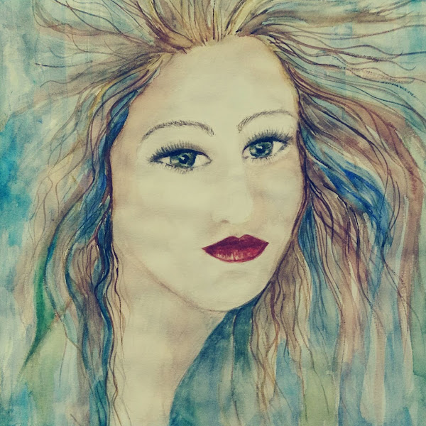 The Mermaid - water colour portrait