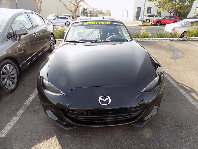Mazda Miata Race Car after body repairs & paint at Almost Everything Auto Body.