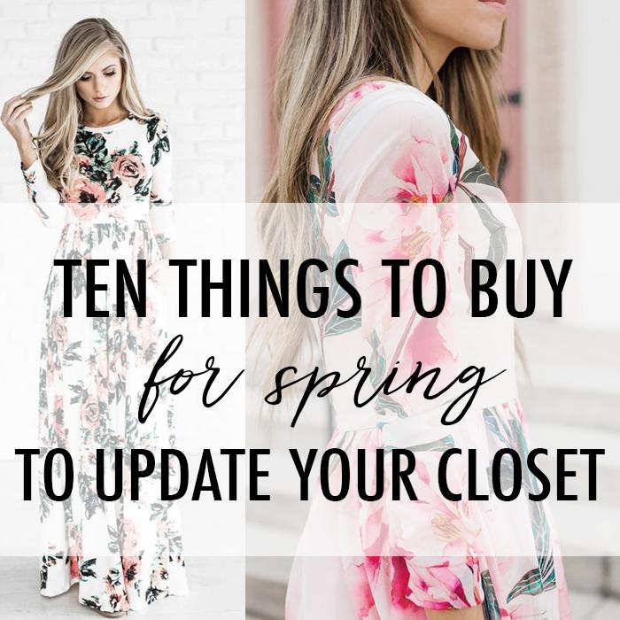 update spring closet