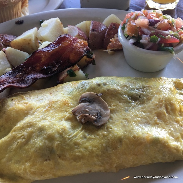 mushroom omelette at Dorn's Original Breakers Cafe in Morro Bay, California