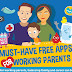 Must-Have Free Apps for Working Parents - Infographic