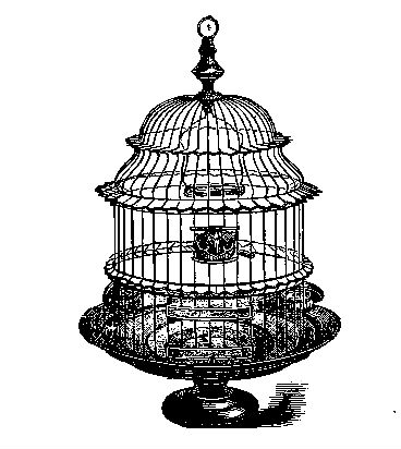 Antique bird cage drawing - photo#51