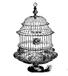bird cage antique clip pig