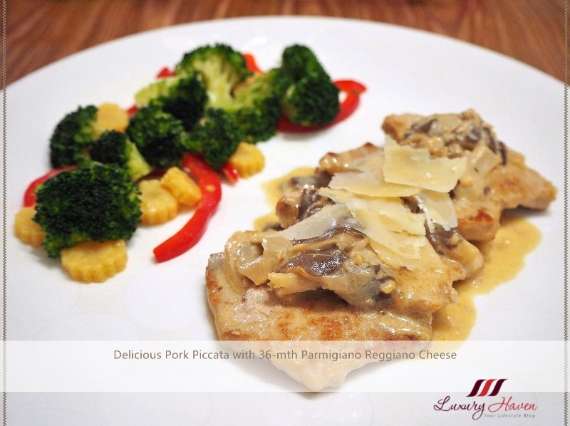 cheesy pork piccata with emborg mushroom sauce recipe