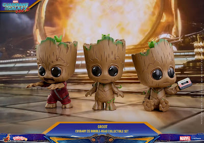 Marvel's Guardians of the Galaxy Vol. 2 Cosbaby Baby Groot Mini Figure 3 Pack by Hot Toys