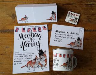Bespoke Royal Wedding Stationery set by Alice Draws The Line