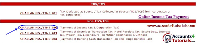 tutorial to pay income tax in online