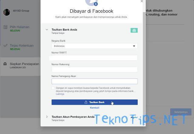 Pembayaran FB Creator indonesia