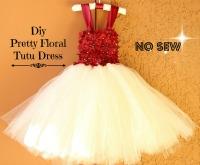 DIY No Sew Floral Tutu Dress