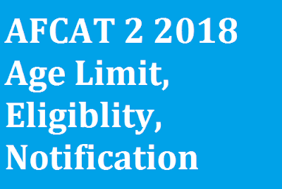 AFCAT 2 2018 Age Limit, Eligiblity, Notification Date,Syllabus, Paper pattern