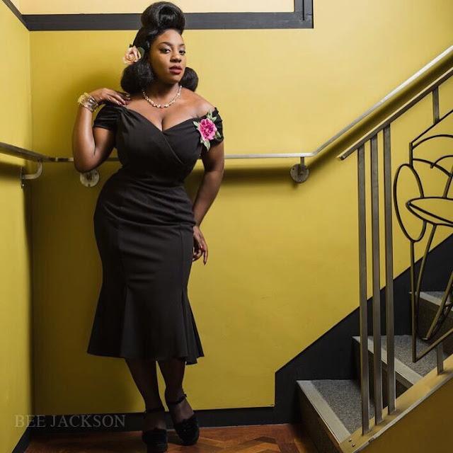 Misstammissavoy,Velvet Jones, African american pin up hairstyles, Black pinup girl hairstyles, Featured Pinup, Pin up girl black hair, pinup life, Vintage hairstylesfor black hair, Theurbanpinup