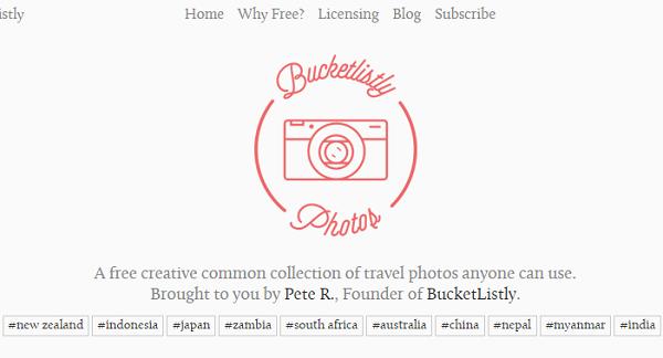 Situs Penyedia Gambar Gratis Bucketlistly