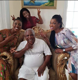 b - Ghanaian celebrities team up with their kids/dads in stylish photos to celebrate Father's day (Photos)