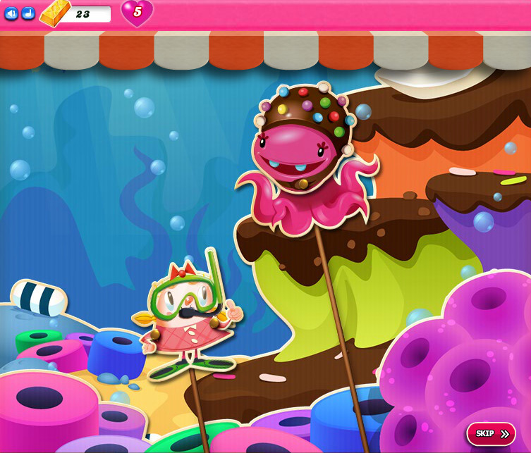 Candy Crush Saga level 2556-2570