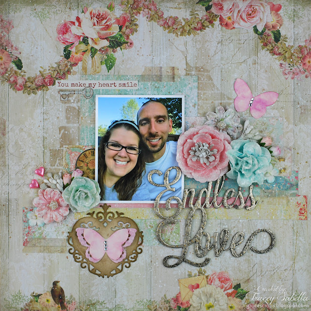 Endless Love mixed media layout tutorial