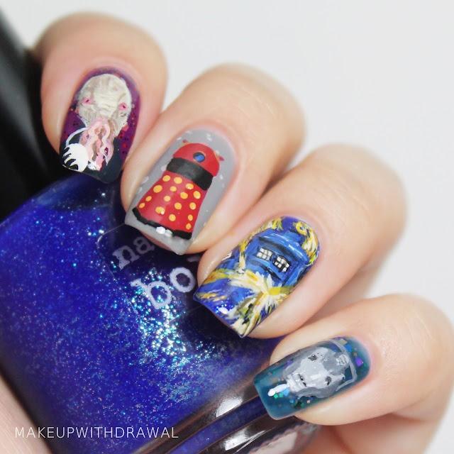 Doctor Who 50th Anniversary Nails