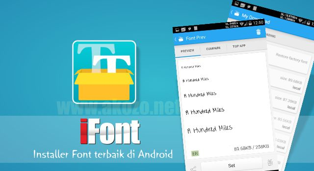 iFont v5.8.9 build 130 Apk Gratis Terbaru (Donate)