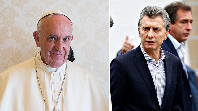 """""""No me gusta el número 666"""": Francisco rechaza una donación del presidente argentino Mauricio Macri"""