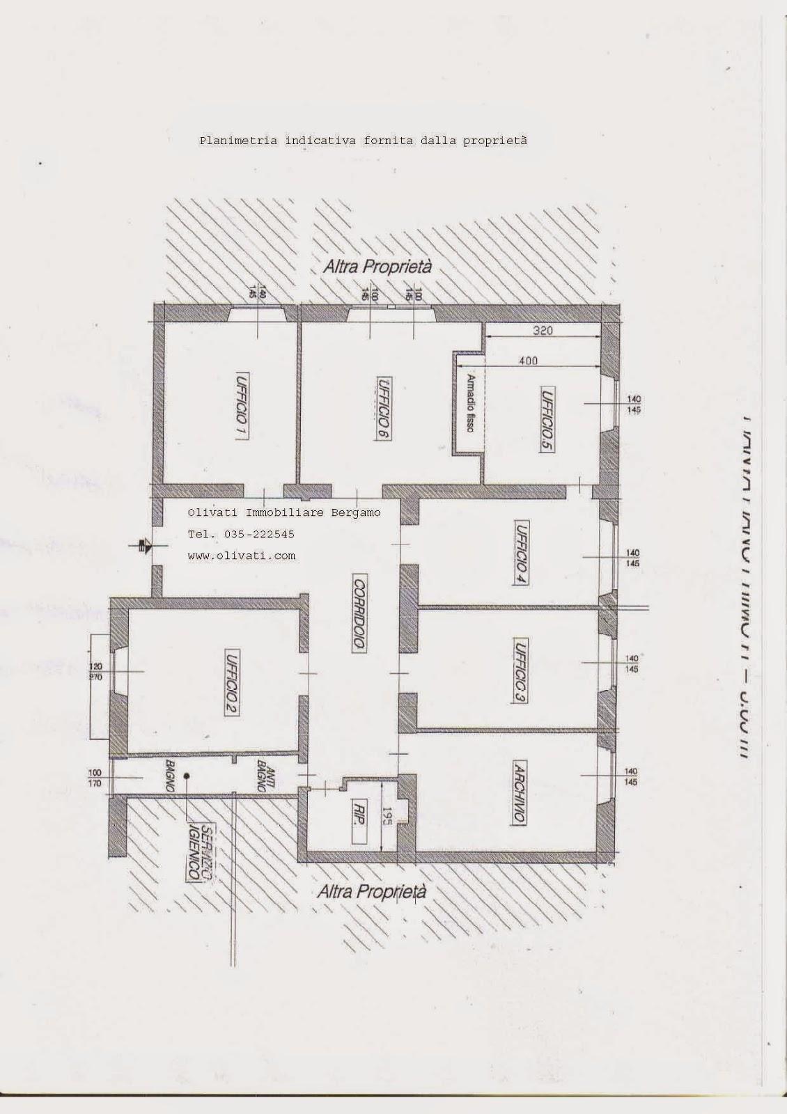 grande ufficio affitto bergamo centro