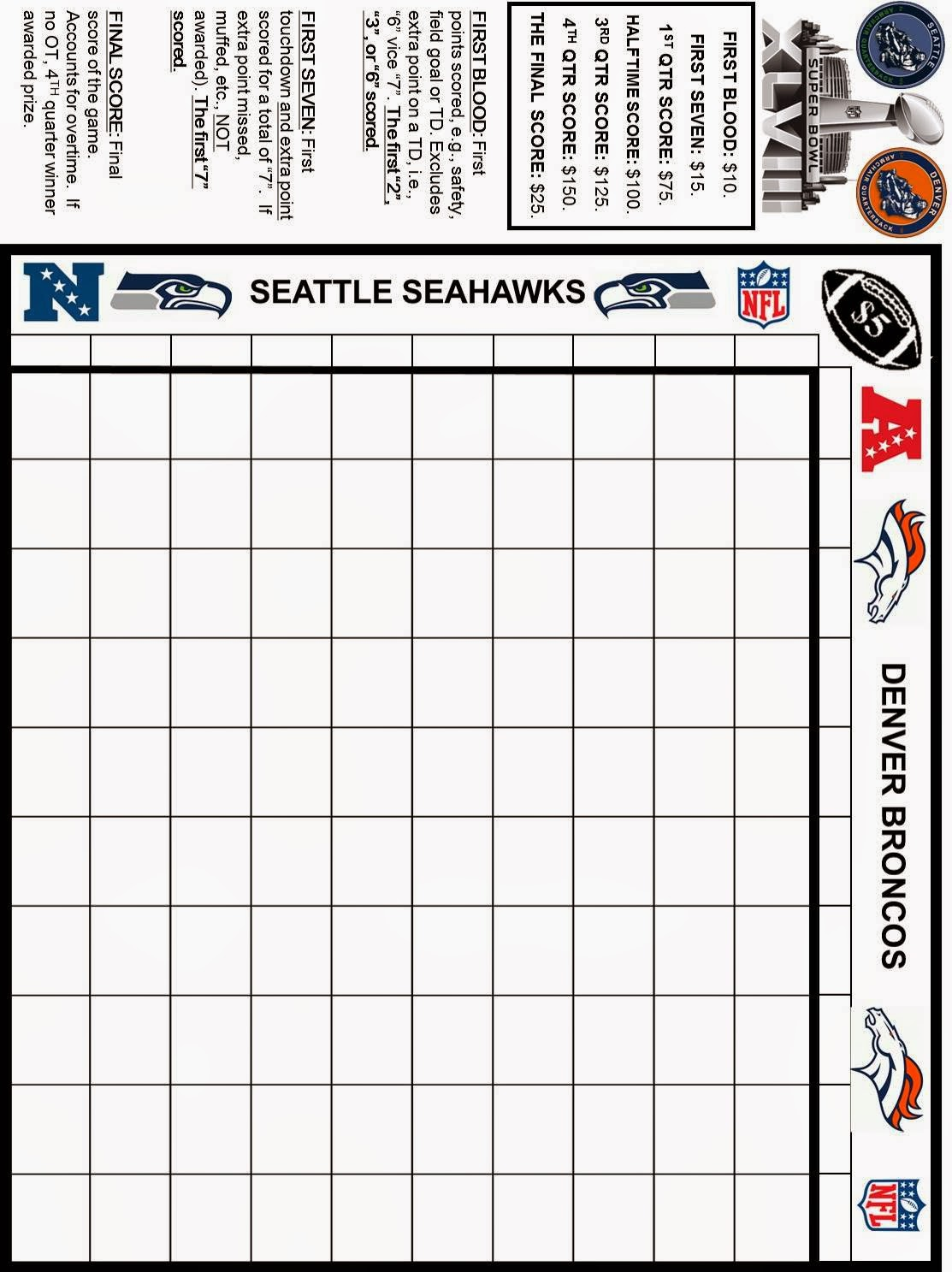 Spouting Off About Sports And Stuff Printable Super Bowl Xlviii Grid