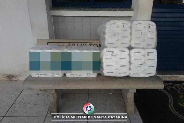 Roubo de fardos de papel higiênico no bairro São Cristóvão
