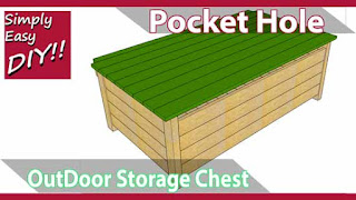 Large Pocket Hole Outdoor Storage Chest