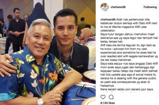Kebetulan Chef Wan Duduk Semeja Dengan Aliff Syukri Dalam Satu Majlis, Ini Yang Berlaku Selepas Itu