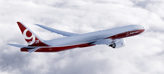 Boeing 777-9x Jetliner Inflight