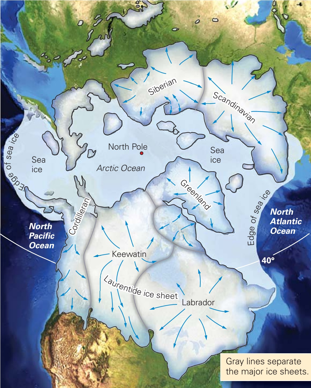 Extent Ice Age North America