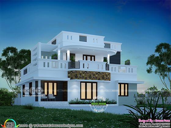 1860 sq-ft stunning modern Kerala home