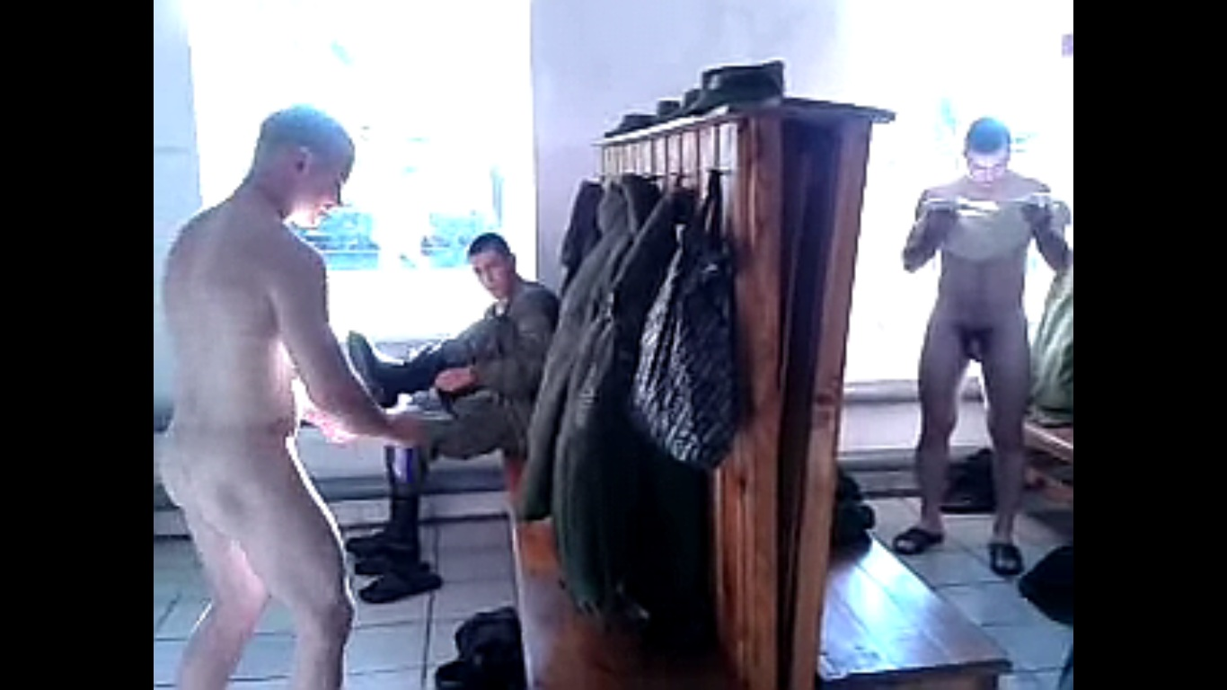bathroom soldiers nude