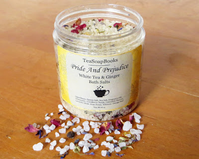Pride and Prejudice Bath Salts on Etsy with review by Tomes and Tequila blog