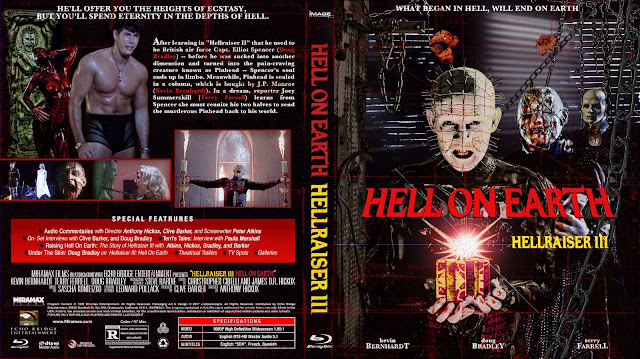 Hellraiser III: Hell on Earth Bluray Cover