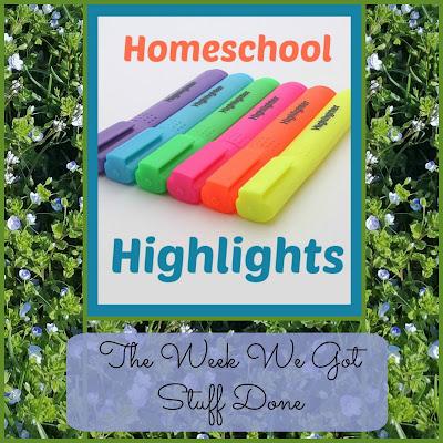 Homeschool Highlights - The Week We Got Stuff Done on Homeschool Coffee Break @ kympossibleblog.blogspot.com