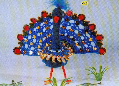 Patron Crochet Pavo Real
