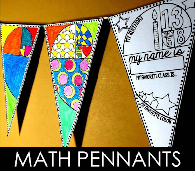 Math pennants | Scaffolded Math and Science