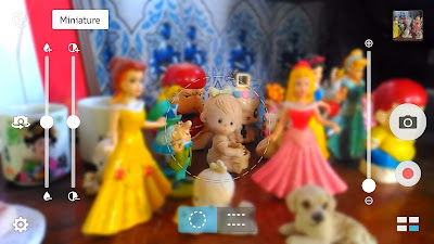 This is how the Miniature mode looks like. This is a screenshot photo before I took the photo below in Miniature camera mode using Asus Zenfone Selfie