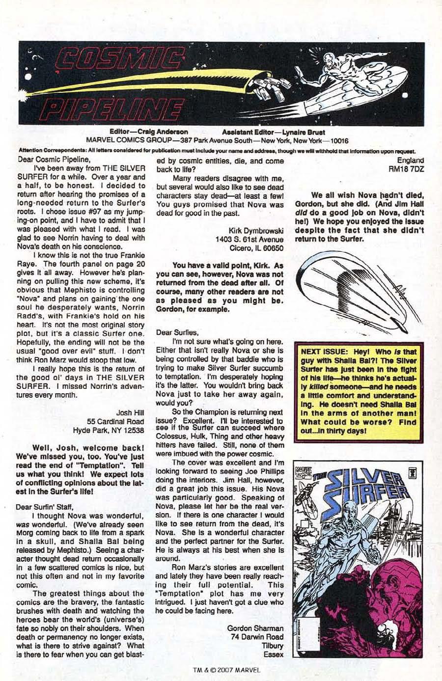 Read online Silver Surfer (1987) comic -  Issue #100 - 49