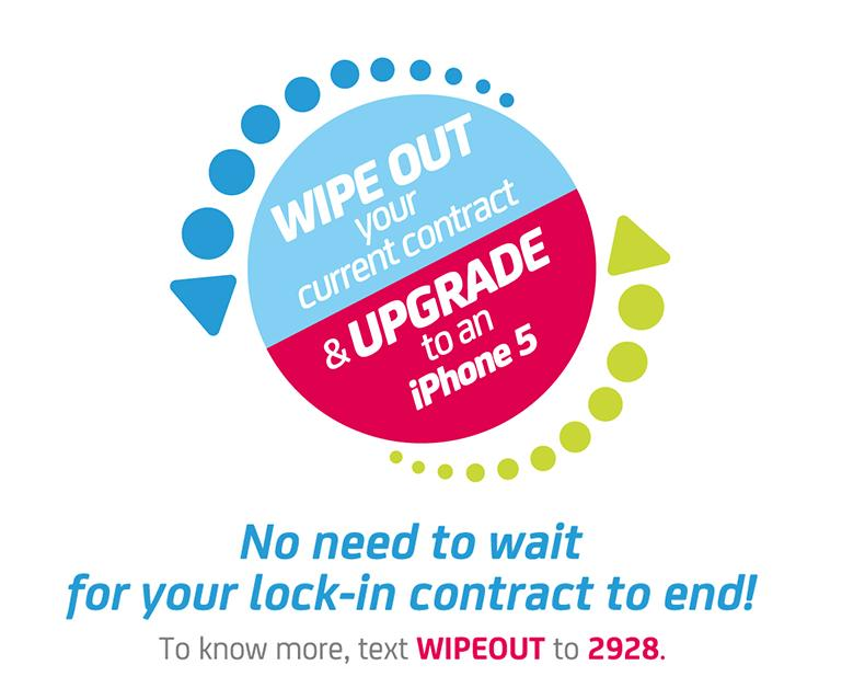 Terminate your current Smart postpaid plan with Smart Wipeout Program and upgrade to iPhone  5