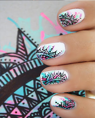 decoracion de uñas mandalas
