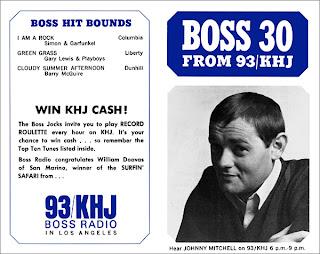 KHJ Boss 30 No. 42 - Johnny Mitchell