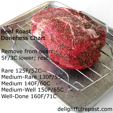 Roast Beef - Beef Roast Doneness Chart - How to Cook a Small Roast Beef - It's a bit trickier than a small one / www.delightfulrepast.com