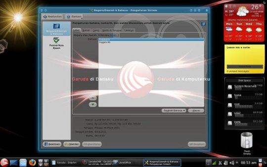 Desktop Garuda OS
