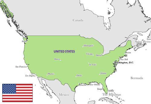 peta dan profil negara amerika serikat