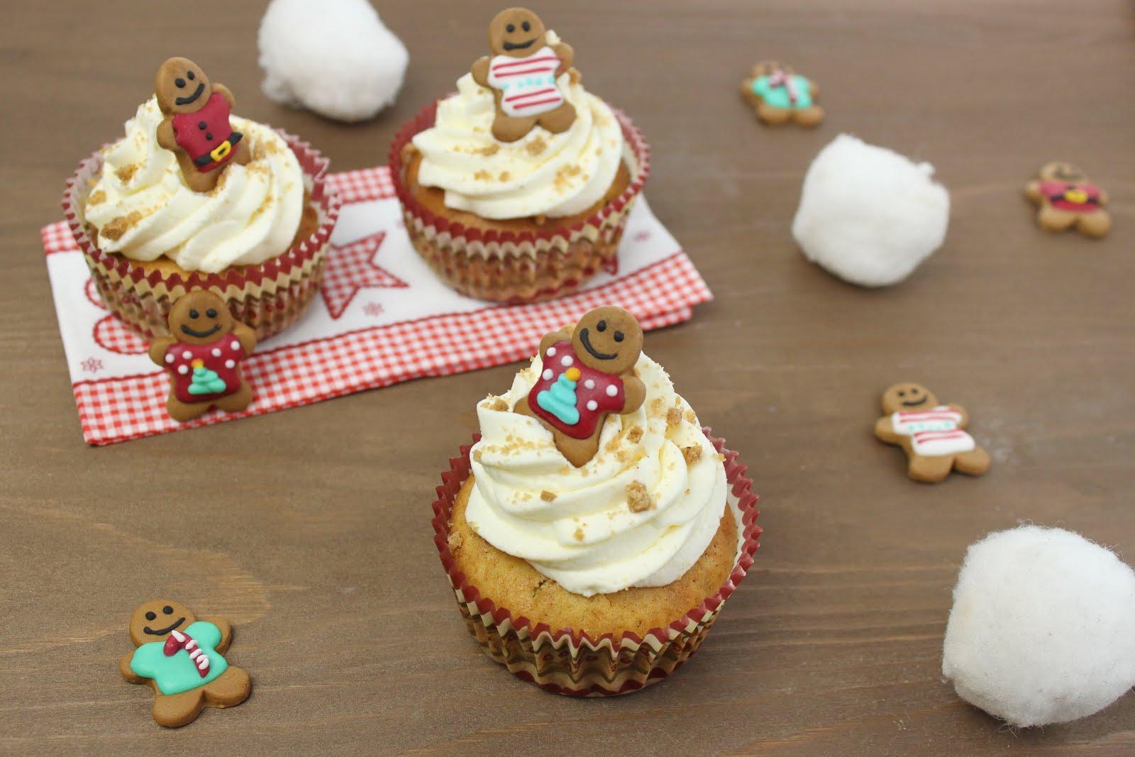 spekulatius cupcakes backen weihnachtliches cupcake rezept jamblog. Black Bedroom Furniture Sets. Home Design Ideas