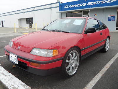 Original paint on Almost Everything's Car of the Day, a 1989 Honda CRX