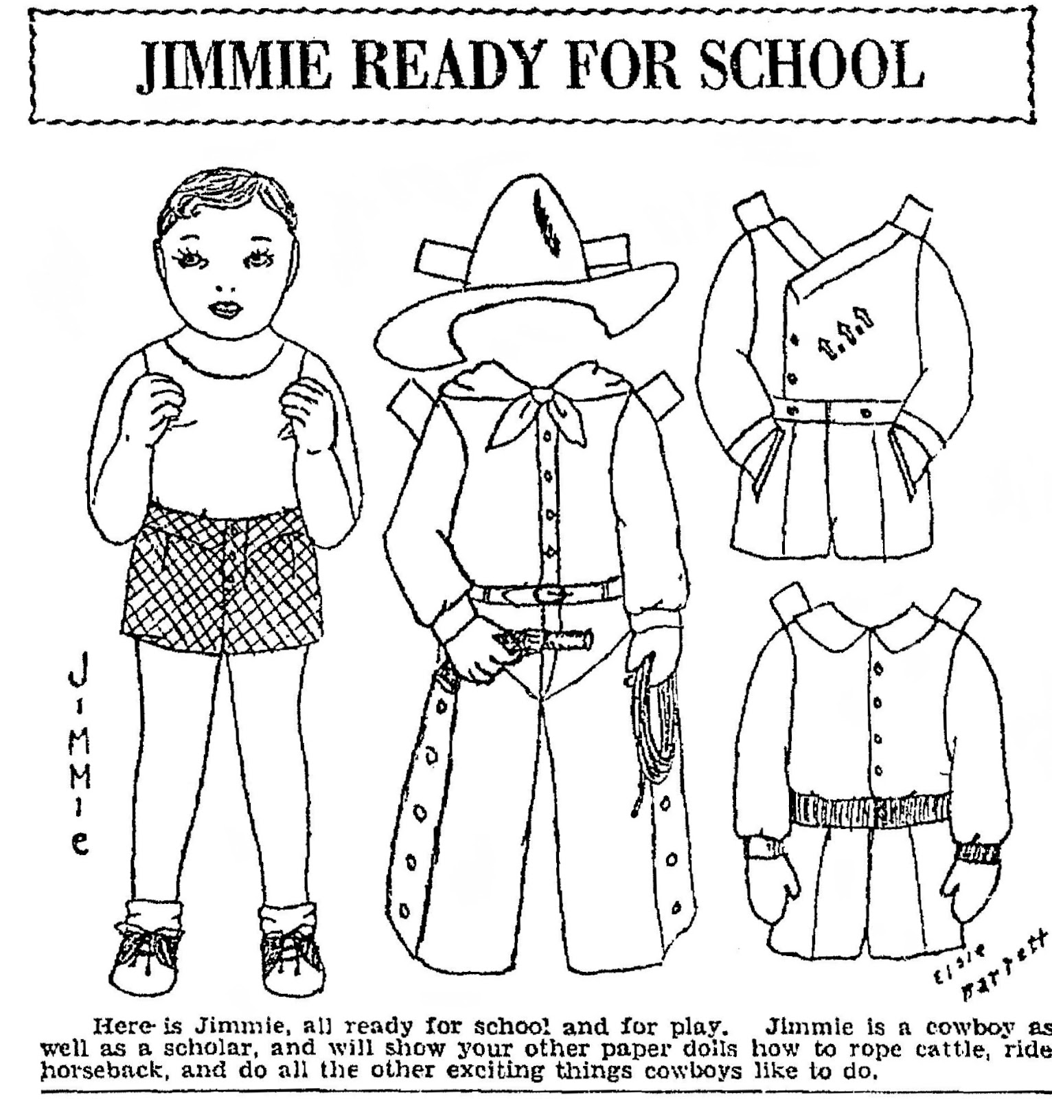Mostly Paper Dolls: JIMMIE & ROGER, Two Boy Paper Dolls