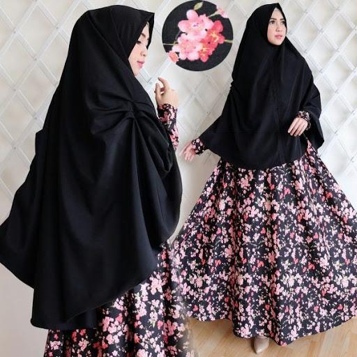Trend model busana gamis muslimah syar'i terbaru untuk lebaran 2017/2018