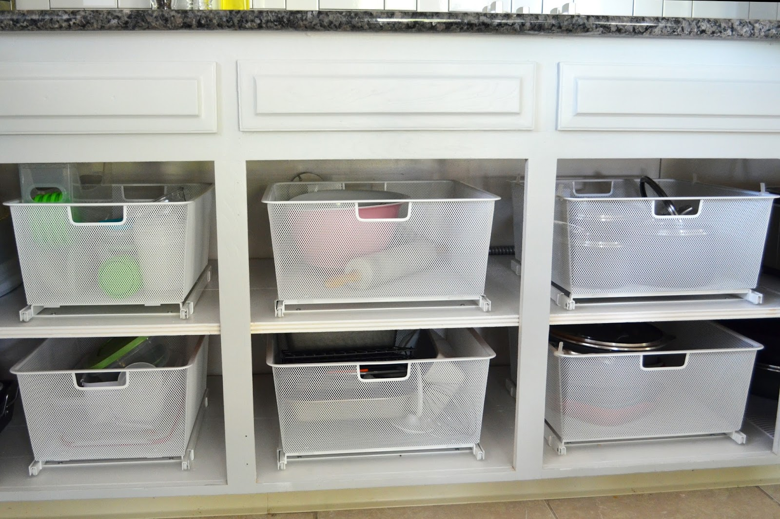 Stacy + Charlie: kitchen cabinet organization