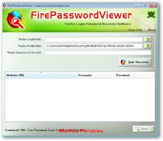 FirePasswordViewer Portable